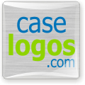 Caselogos metallic domed decals. Metallic background for high tech or industrial applications.